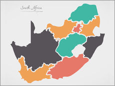 Wall sticker  South Africa map modern abstract with round shapes - Ingo Menhard