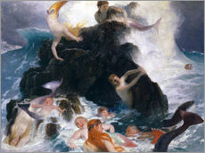 Wall sticker  Game of the Naiads - Arnold Böcklin