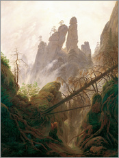 Gallery print  Gorge - Caspar David Friedrich