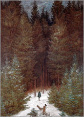 Gallery print  Chasseur in the woods - Caspar David Friedrich
