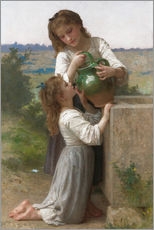 Gallery Print  At The Fountain - William Adolphe Bouguereau