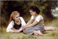 Wall Sticker  The Nut Gatherers - William Adolphe Bouguereau