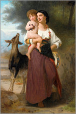 Wall sticker  convoitise - William Adolphe Bouguereau