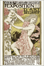 Foam board print  The decorative art exhibition (French) - Eugene Grasset