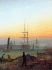 Wall sticker  Harbour of Greifswald - Caspar David Friedrich