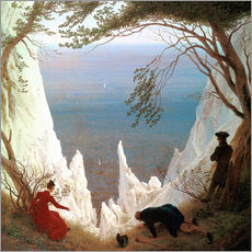 Gallery print  Chalk Cliffs on Rügen - Caspar David Friedrich