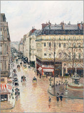 Gallery Print  The Rue Saint-Honoré in the afternoon - Camille Pissarro