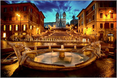Wall sticker  Spanish Steps and Fontana della Barcaccia in Rome