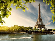 Gallery print  Eiffel tower on the river Seine, France