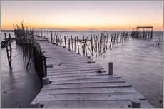 Gallery print  Sunset at Palafito Pier of Carrasqueira, Setubal, Portugal - Roberto Sysa Moiola