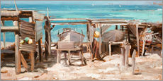 Gallery print  Fishing boats, Ibiza - Johnny Morant
