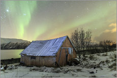 Wall Stickers  Aurora Borealis on typical Rorbu, Svensby, Norway - Roberto Sysa Moiola