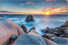 Gallery print  Sunset on cliffs of Capo Testa, Sardinia, Italy - Roberto Sysa Moiola