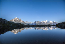 Gallery print  Mont Blanc reflected in Lacs des Chéserys, France - Roberto Sysa Moiola