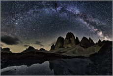 Wall sticker Milky way over Tre cime - Dolomites