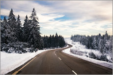 Wall sticker  Curvy road in winter in the Black Forest - Dennis Fischer