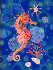 Wall sticker Seahorse in the blue