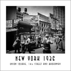Gallery print  Historic New York: Union Square, 14th Street and Broadway - Christian Müringer