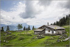 Gallery print  Almhütte in Salzburg, alpine pasture in the Alps - Gerhard Wild