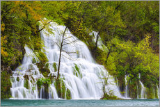 Wall sticker  Spring at the waterfalls of Plitvice - Moqui, Daniela Beyer