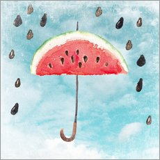 Wall sticker Summery fruity melon rain