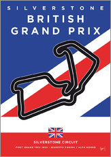 Wall Stickers  My F1 SILVERSTONE Race Track Minimal Poster - chungkong