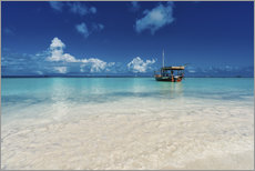 Gallery print  Turquoise sea in Zanzibar - Stefan Becker
