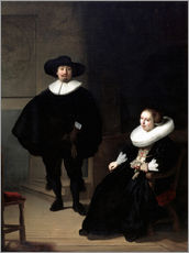 Rembrandt van Rijn - A lady and gentleman in black