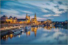 Gallery print  Old Town Dresden at night - Sabine Wagner