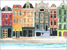 Gallery print  Amsterdam watercolor - Rongrong DeVoe