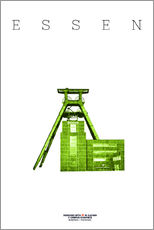 Wall sticker  Essen City Colliery Zollverein - campus graphics