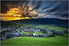 Wall Sticker  Kaprun sunset - PhotoArt Hartmann