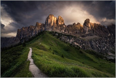 Wall Stickers  Sunset at the Passo Gardena, Dolomites, Italy - Dennis Fischer