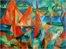 Wall Stickers  The red sails - Paul Adolf Seehaus