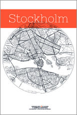 Gallery print  Stockholm map circle - campus graphics