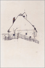 Gallery print  Residential house with fence - Egon Schiele