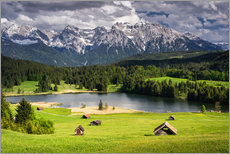 Wall Stickers  Karwendel mountains with lake in the Alps - Dennis Fischer