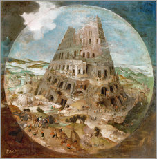 Wall sticker  Tower of Babel - Pieter Brueghel d.J.