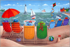 Wall Stickers  What a Scorcher rainbow beach scene - Peter Adderley