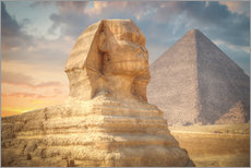 Wall sticker  Sphinx and pyramid