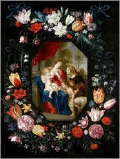 Wall sticker  The Virgin Mary and the Christ Child - Jan Brueghel d.J.