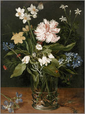 Gallery print  Still Life with Flowers in a Glass Vase - Jan Brueghel d.Ä.
