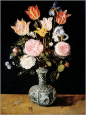 Wall sticker  Flowers in a Chinese Vase - Jan Brueghel d.Ä.