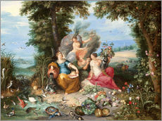 Gallery print  The four elements - Jan Brueghel d.J.