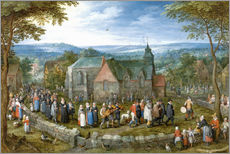 Gallery print  Village wedding - Jan Brueghel d.Ä.