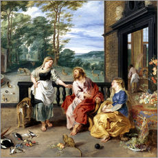 Gallery print  Christ in the House of Martha and Mary - Jan Brueghel d.J.