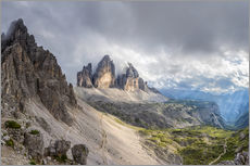 Wall sticker  Cloud sky at Tre Cime in Dolomite Alps - Dieter Meyrl