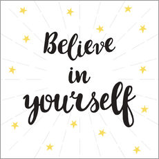 Wall Stickers  Believe in yourself! - Typobox