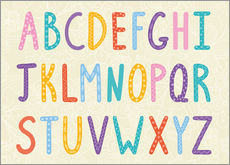 Wall sticker Colorful ABC letters