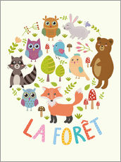 Gallery print  The Forest (French) - Kidz Collection